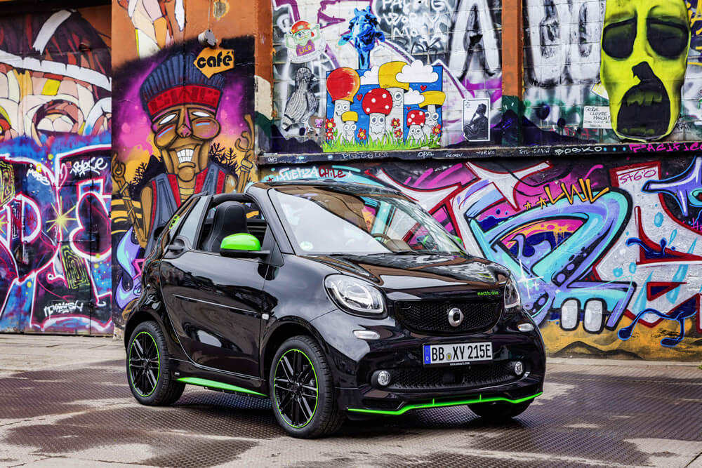 The new electric drive Smart ForTwo Cabrio ED
